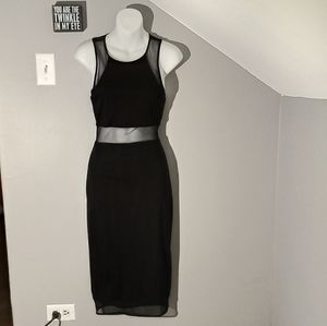 Express Black Midi Dress So 0 NWOT